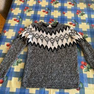 A grey women's sweater